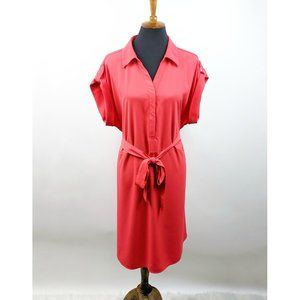 LANE BRYANT Roll Tab Sleeve Shirt Dress